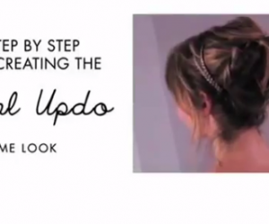 KAPSELS : NATURAL UPDO – TUTORIAL