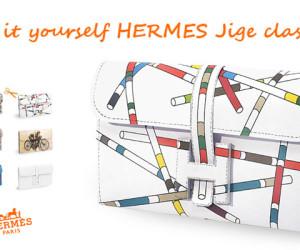 Do it yourself Hermes Jige Clasp Clutch