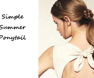 Zomerkapsels en Haartrends van Sally Brooks: Simple Summer Ponytail