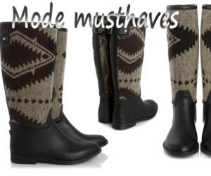 Mode Musthave: Supertrash Regenlaarzen met Azteken print