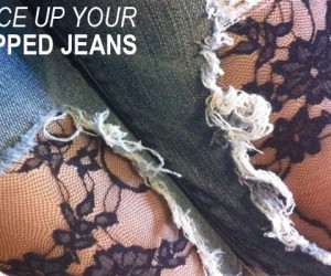 DIY: Lace Up your Ripped Jeans