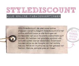 Online shoppen? Check eerst alle fashionkortingen op Stylediscount!