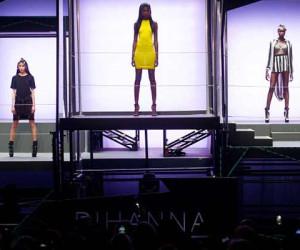 Rihanna for River Island @ London Fashion Week – Video