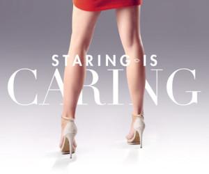 Staring is Caring met het Supertrash Stop Aids Now rokje