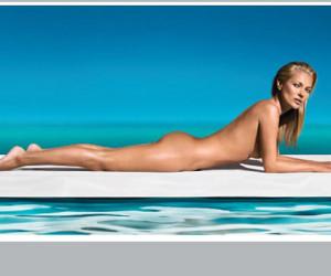 Naakte Kate Moss voor St. Tropez