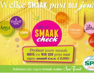 Doe de Smaakcheck en win een prijs van 5000 euro naar eigen smaak!