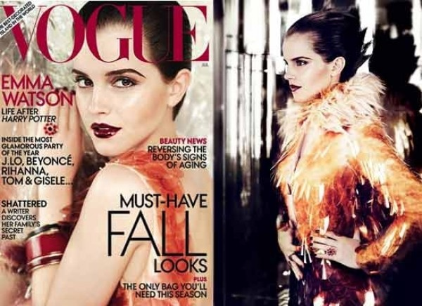 Emma Watson voor haar eerste Vogue cover
