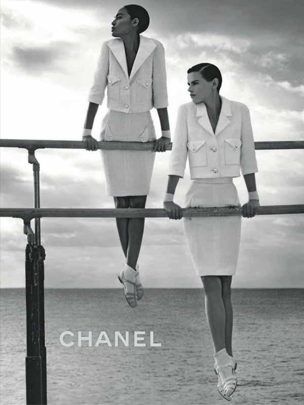 Chanel SS12 – Saskia de Brauw & Joan Smalls