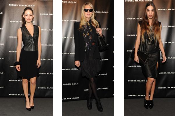 Emmy Rossum, Alexandra Richards & Amber Le Bon at DIESEL BLACK GOLD FW 12/13 Fashion show