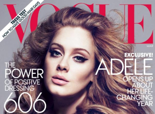 Adele op cover van Amerikaanse VOGUE