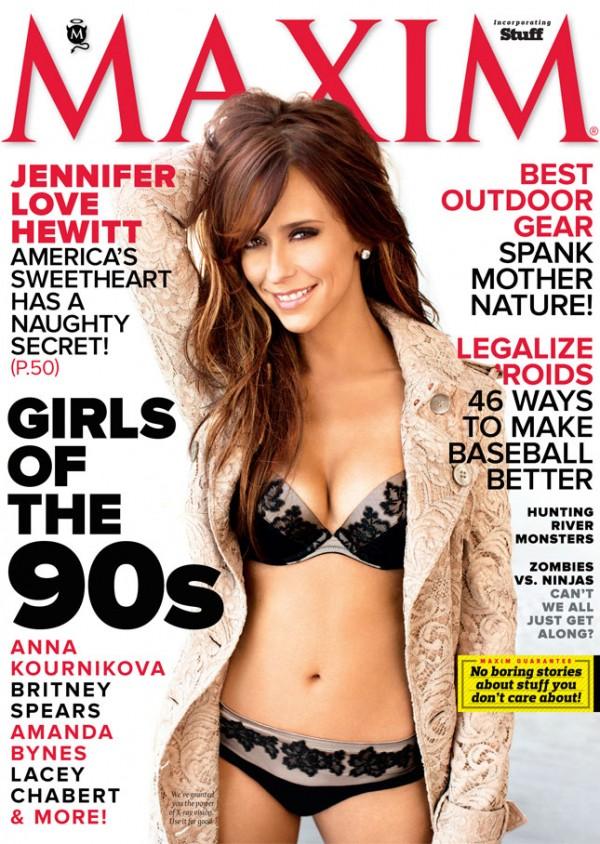 Jennifer Love Hewitt op de cover van MAXIM Magazine