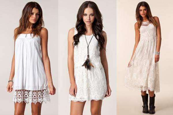 White Summer Dresses van VILA via Nelly.com