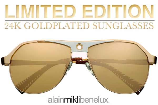 Alain Mikli Limited 24k Goldplated Sunglasses
