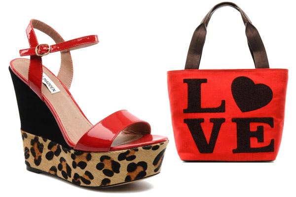 Sandaal van Steve Madden en shopper van Love Moschino via Sarenza