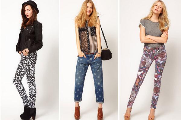 Jeans met print bij Asos.com