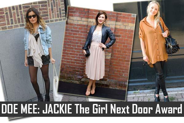 JACKIE The Girl Next Door Award