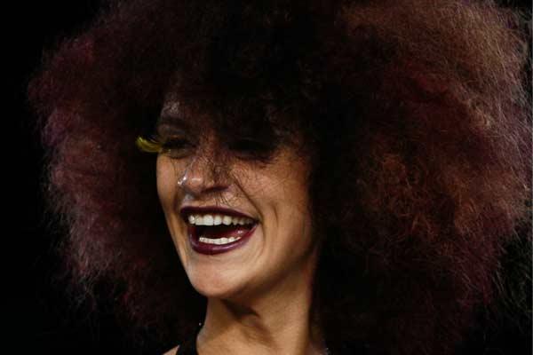 Snapshot van de catwalk @ Wella Professionals TrendVision 2012