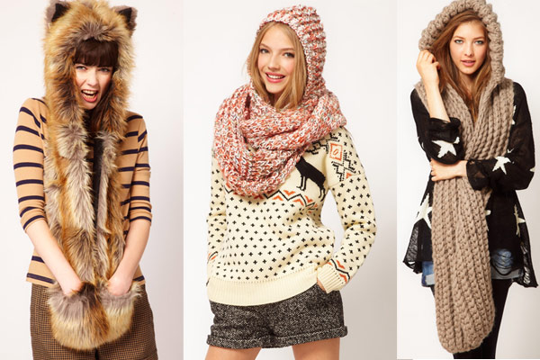 Mode Musthaves winter 2012 2013: Hooded snoods via Asos.com