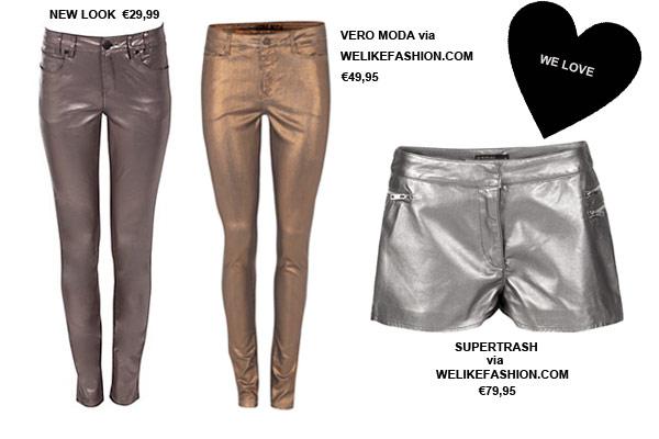 Modetrends Herfst Winter 2012 2013 - Metallic Jeans & Shorts