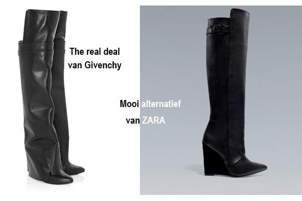 Mode Musthaves voor de winter: Overknee boots van Givenchy & Zara
