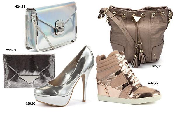 Modetrends Herfst Winter 2012 2013 - Metallic Schoenen & Tassen