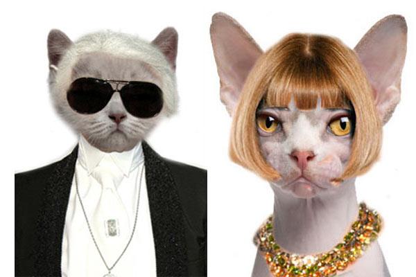 Fashimals: Anna Wintour en Karl Lagerfeld