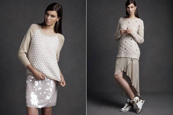 Feestdagen Fashion Primark - Pailletten en kant gecombineerd met breisels