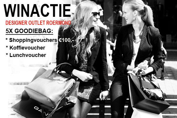 WINACTIE Designer Outlet Roermond: Win 5x Shoppingvouchers van 100 euro