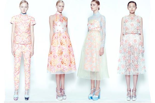 Modetrends Lente en Zomer 2013 - Bloemenprints bij Erdem