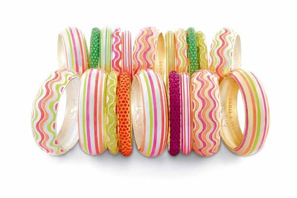 Handgeschilderde Armbanden van Sal Y Limon in Neon