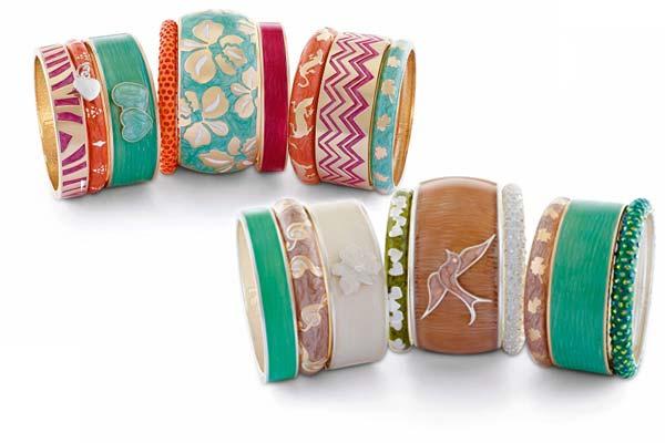 Handgeschilderde Armbanden van Sal Y Limon in Mediterrane en Misty Colours