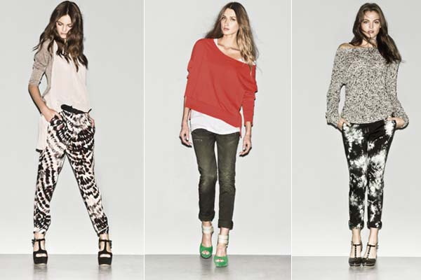 Modetrends Lente en Zomer 2013: Sisley SS13 - Jeans en tie-dye print