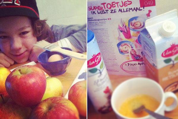 De ingredienten voor de appel bladerdeegtaartjes