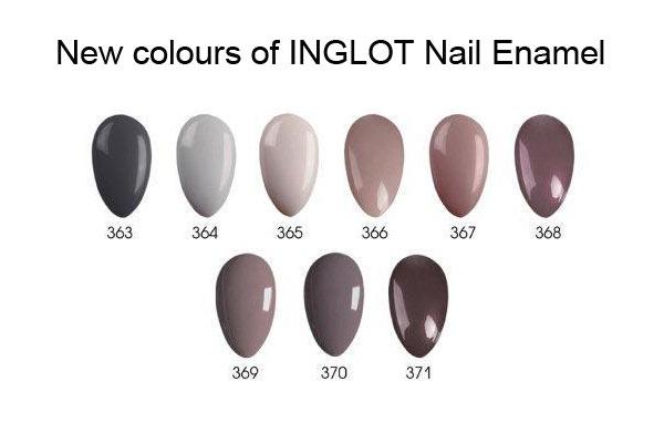 Inglot nagellak - Coffee Collection