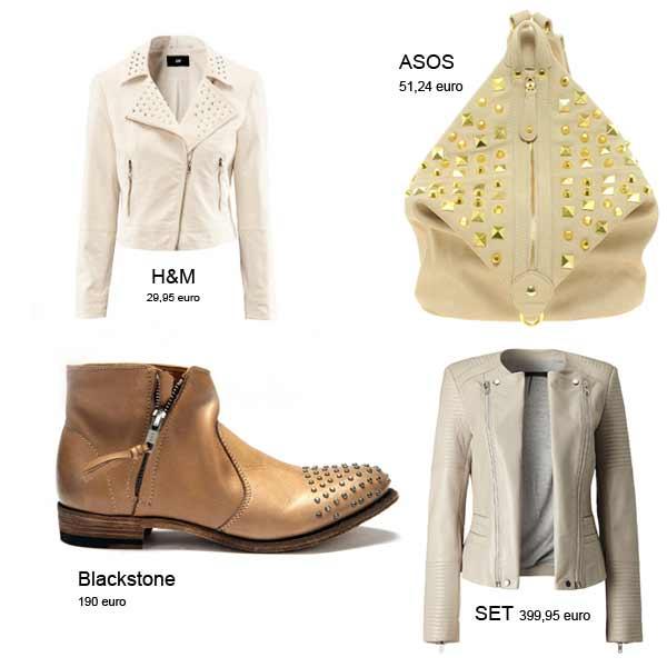 Modetrends Lente en Zomer 2013: Rock Chic nieuwe stijl - Studs & Neutrals