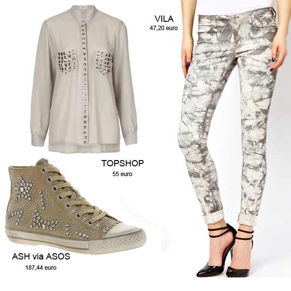Modetrends Lente en Zomer 2013: Rock Chic nieuwe stijl - Studs & Tie-dye