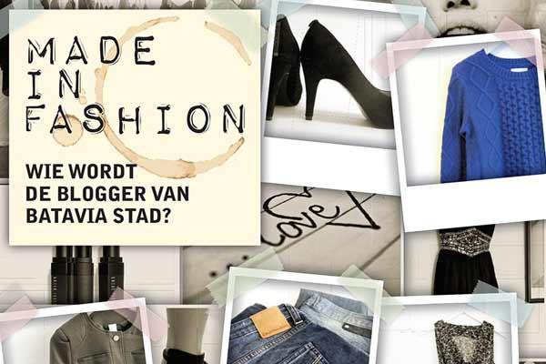 Wie wordt de modeblogger van Batavia Stad?