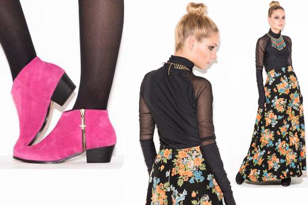 Bitching & Junkfood verkoopt ook schoenen en vintage items zoals de gebloemde rok