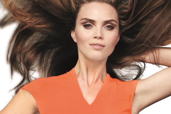 Oranje Designer Dress van Monique Collignon voor een stylish Q-day !