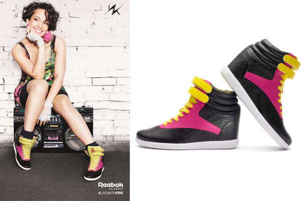 Alicia Keys voor Reebok: Freestyle Sneakers with an (w)edge
