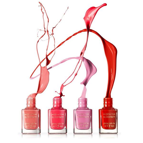 Max Factor Glossfinity - zomerse pinky, peachy en red tinten