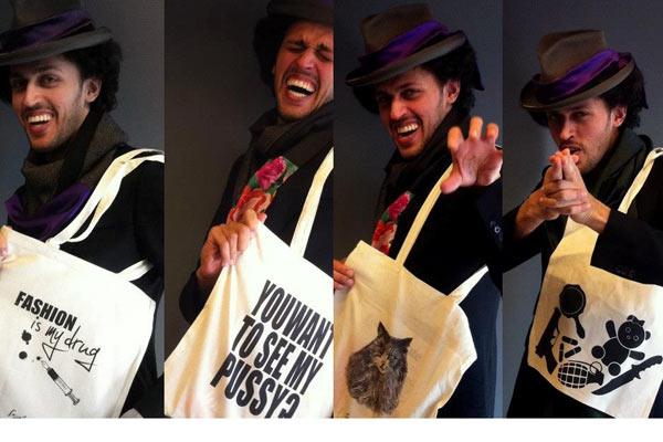 canvas designer bags van Sepehr Maghsoudi