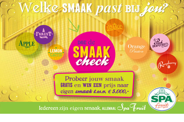 Check je smaak op Smaakcheck en win een prijs van 5000 euro naar eigen smaak!