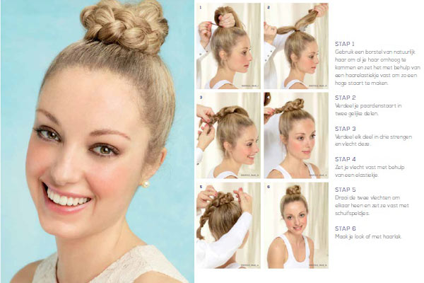 Haartrends Zomer 2013: Two minute Top Knot