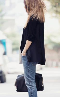 Een jeans met colbert