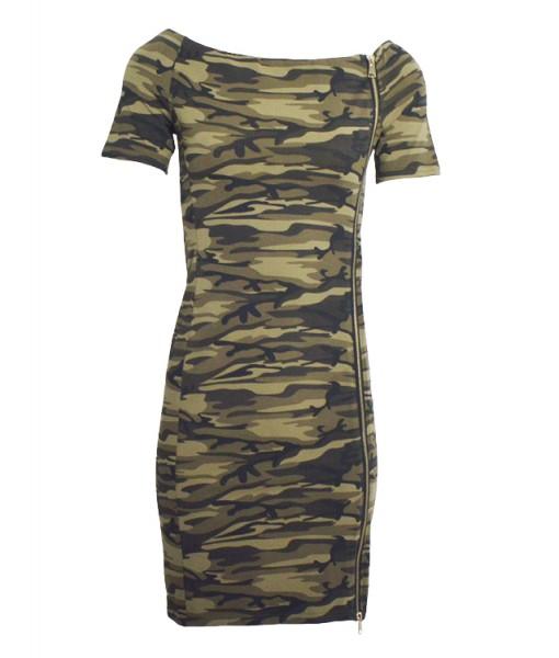 army-off-shoulder-dress