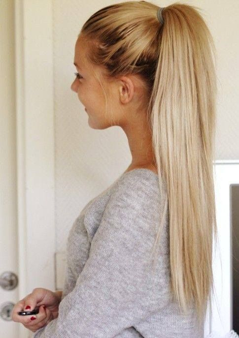 high pony tail hair