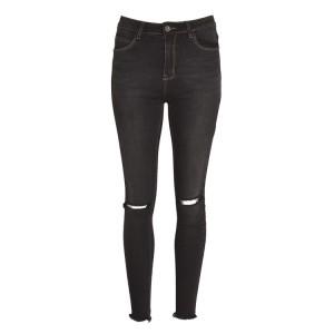 jeans knee cut