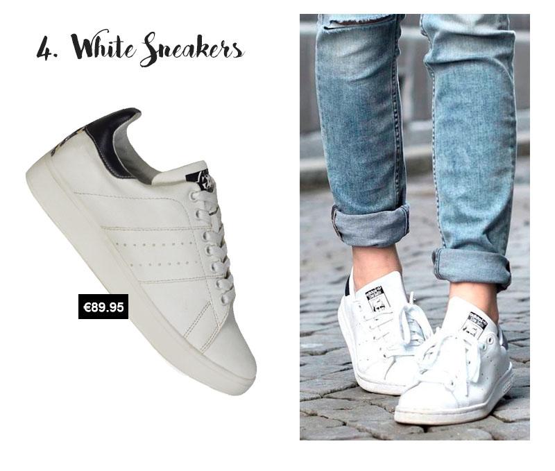 lente sevenbien witte sneakers