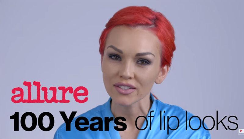 lipstick trends 100 jaar